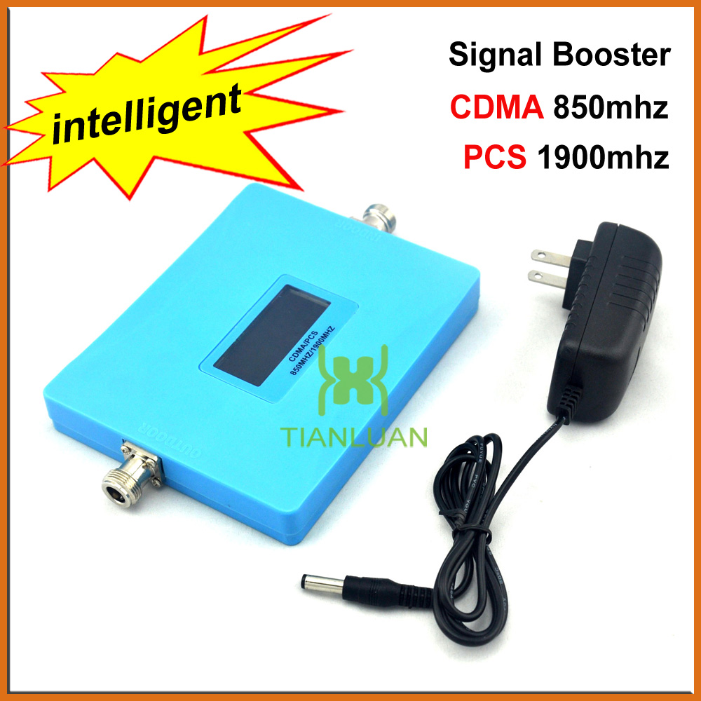 Intelligent Display CDMA 850Mhz PCS 1900MHz Mobile Phone Signal Booster Dual Band Cell Phone Signal Repeater Amplifier + PowerIntelligent Display CDMA 850Mhz PCS 1900MHz Mobile Phone Signal Booster Dual Band Cell Phone Signal Repeater Amplifier + Power