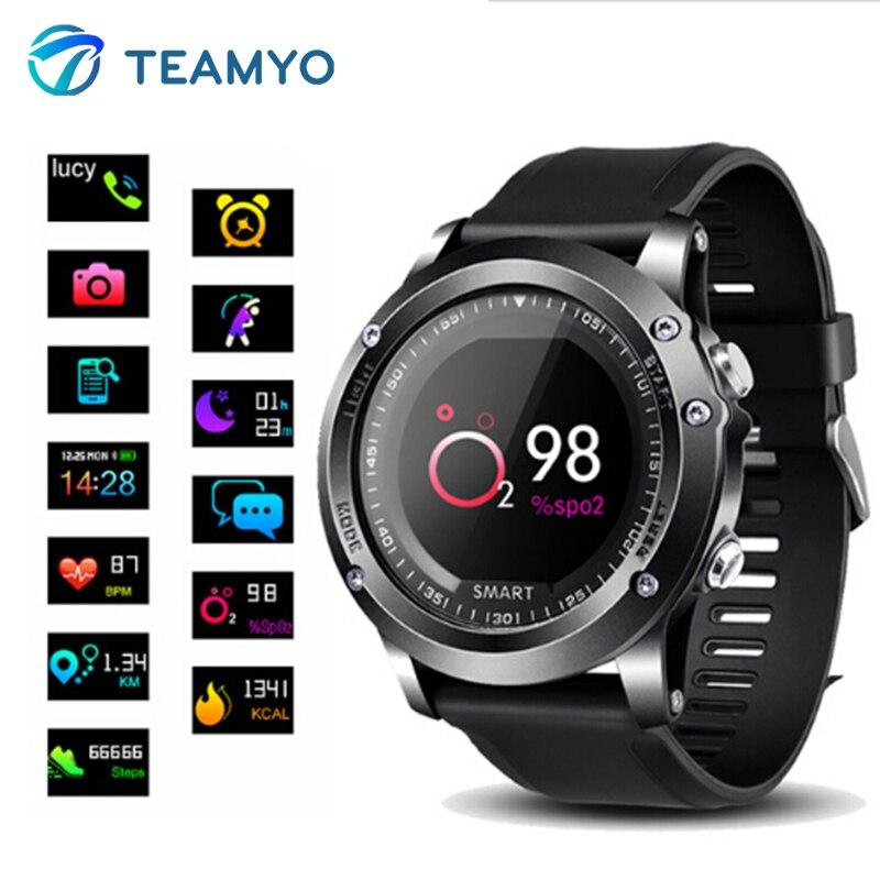 Teamyo T2 Montre Smart Watch IP68 Étanche La Pression Artérielle Moniteur de Fréquence Cardiaque Fitness Tracker Smartwatch Sport Podomètre Bande À Puce