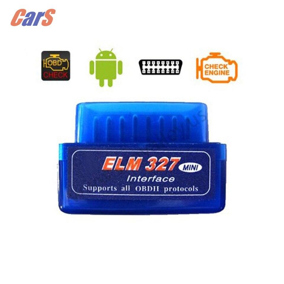 Mini ELM327 V2.1 OBD2 II Bluetooth Car Auto Diagnostic Scanner Tool Mini OBD II ELM327 V2.1 Wireless OBD2 Scanner