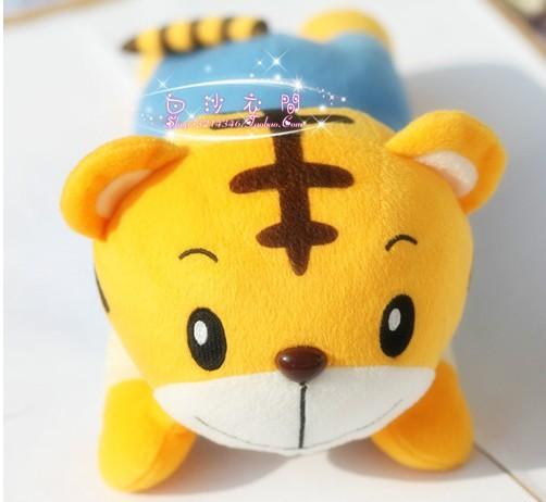 Candice guo! high quality cute plush toy doll papa Qiaohu soft pillow tiger cushion chidren birthday gift 1pc
