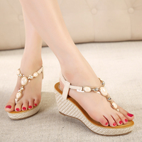 Summer Women Sandals Gladiator Bohemia High Platform Wedges Beach Sandal Flip Flops Casual Shoes Sandals Women