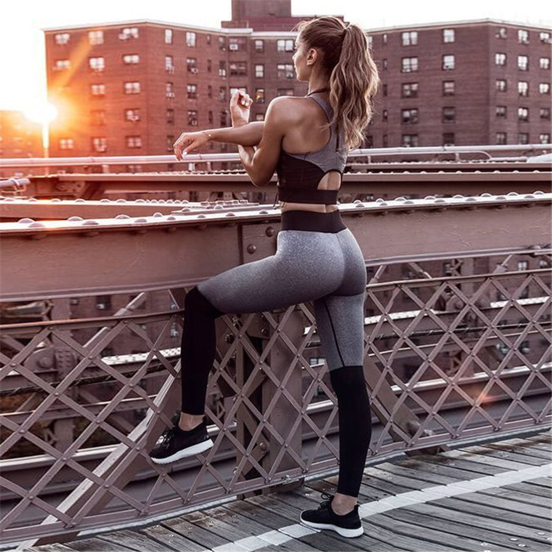 Tracksuit For Women Yoga Set Workout Gym Fitness Clothing Paded Gym Slim Running Leggings+Tops Set Sport Suit Women Sport Wear