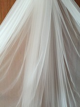 5 Yards 300cm Wide Flowy Bridal Veil Lace Tulle  in Off White Champagen for Gown Lining, Garters, Embroidery DIY