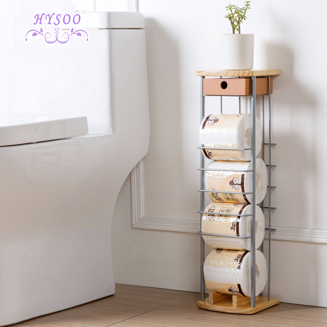 Floor stand paper towel rack bathroom iron roll paper frame living room roll paper storage rack & Floor stand paper towel rack bathroom iron roll paper frame living ...