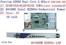 Intel Pentium G2030 three.0Ghz 1U private vpn Firewall with 6* intel 1000M 82583V Gigabit LAN Mikrotik ROS and so forth 2G RAM 500G HDD