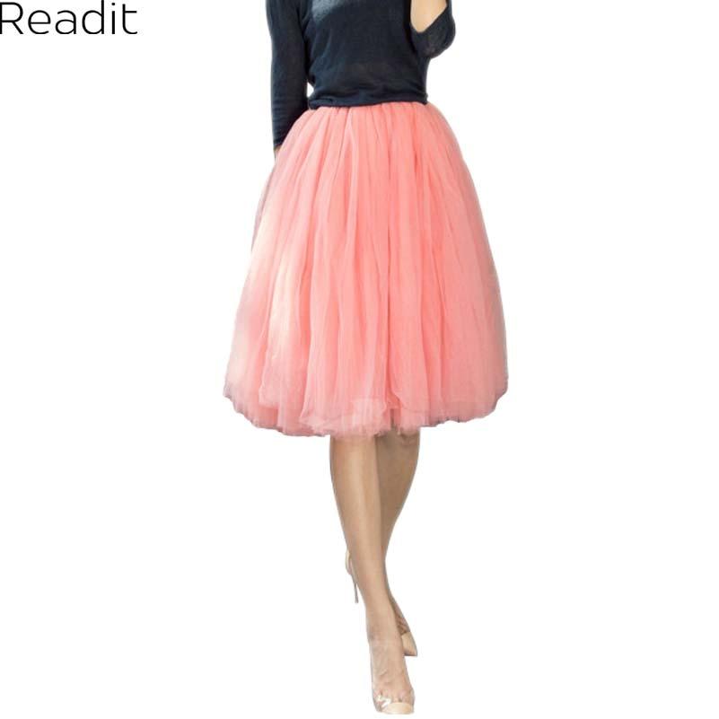 aliexpress buy 7 layers tulle tutu skirt