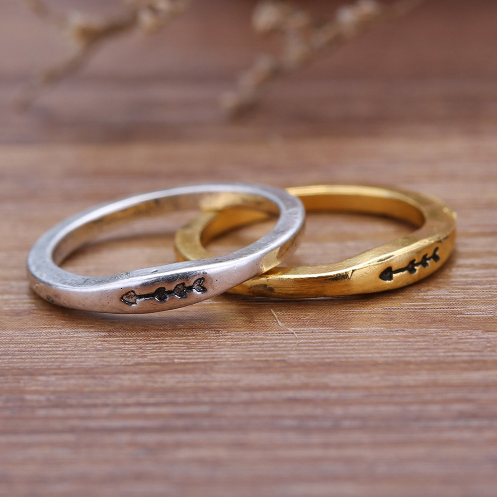 Valentine S Day Gift Rings Unique Arrow Ring Love Jewelry Wedding Engagement Finger Knuckle In From