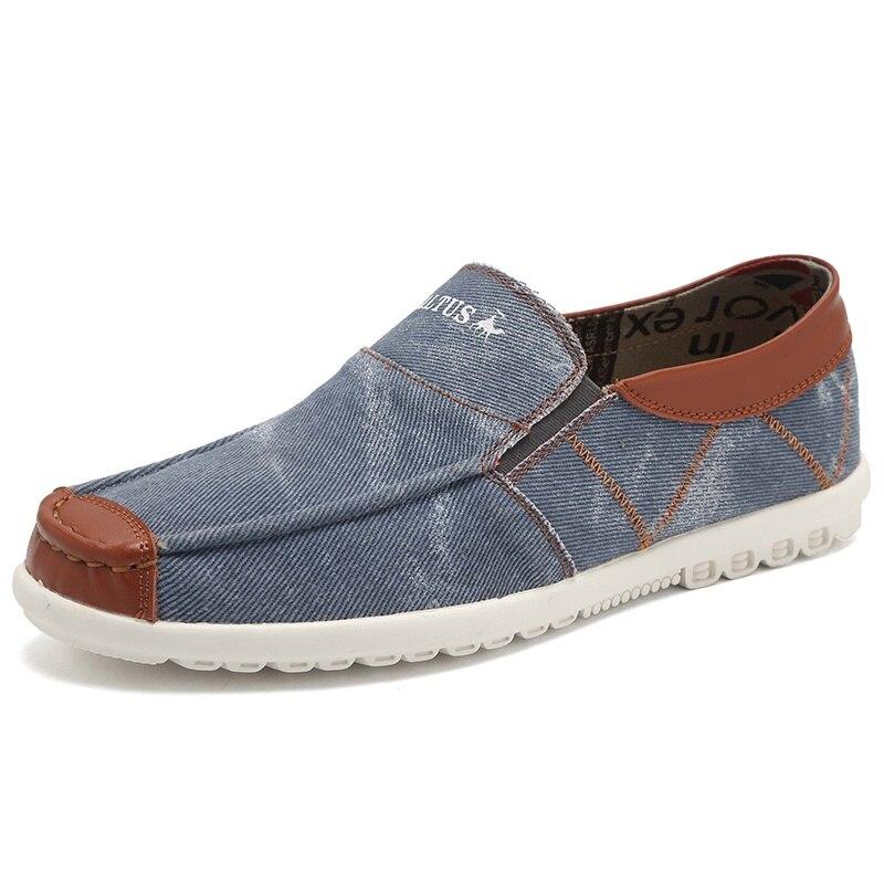 Slip On Flat Hombres Casual Zapatos de Lona de Mezclilla zapatos zapatos de Ocio