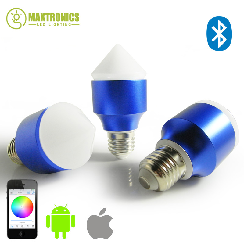 2016 New Magic Blue 6W E27 RGBW led light bulb Bluetooth 4.0 smart dimmable lighting led lamp color change for IOS Android zly 8801 touchable color change magic lantern resonance speakers w aux input tf white