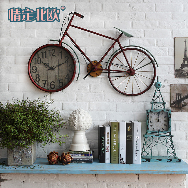 American bicycle vintage wall clock decoration wall clock