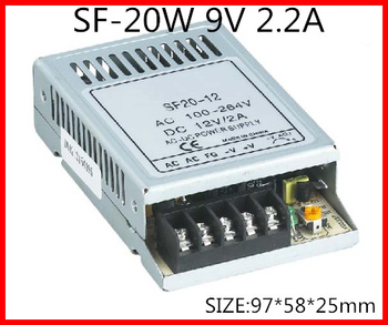 20W 9V 2.2A Ultra thin Single Output Switching power supply for LED Strip light  90-264 V AC Input