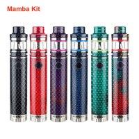 Aleader Mamba Electronic Cigarette Starter Kit 24mm Diameter with 2ML Capacity Subohm Tank Glass Tube Vape Kit for 18650 Battery