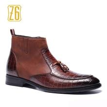 39-48 marque hommes bottes Z6 Top qualité beau confortable printemps Rétro en cuir bottes # R5285-3