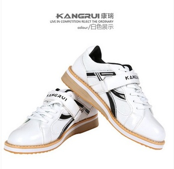 Professional Weightlifting Shoe Squat Training Leather Slip Resistant Weight lifting Shoes