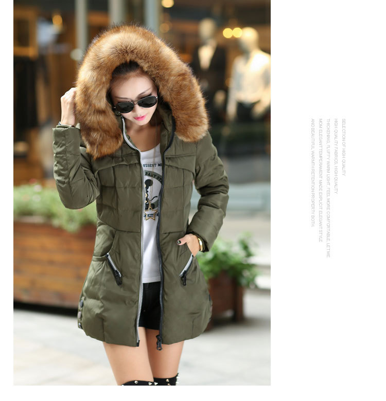 2016 Long Parkas Female Women Winter down Coat Thickening Cotton Winter women Jacket Hooded coat Outwear Parkas for Women Winter