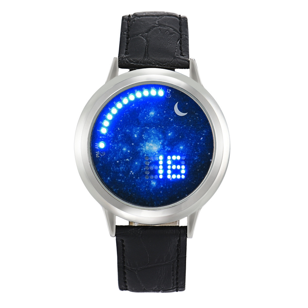 Superior NEW Women Men Girl Boy Touch LED Electronic Multifunctional Universe Sports Watch Watch
