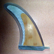 "free delivery 2016 Tremendous Sturdy eight""Honeycomb Fiberglass SUP paddle board centre fin Fcs Surf Fins with Bamboo Veneer"