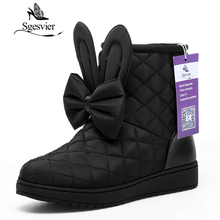 ФОТО sgesvier women shoes sweet butterfly-knot ankle boots cute lady shoes new winter short boots for women 2017 size 33-40 ox037