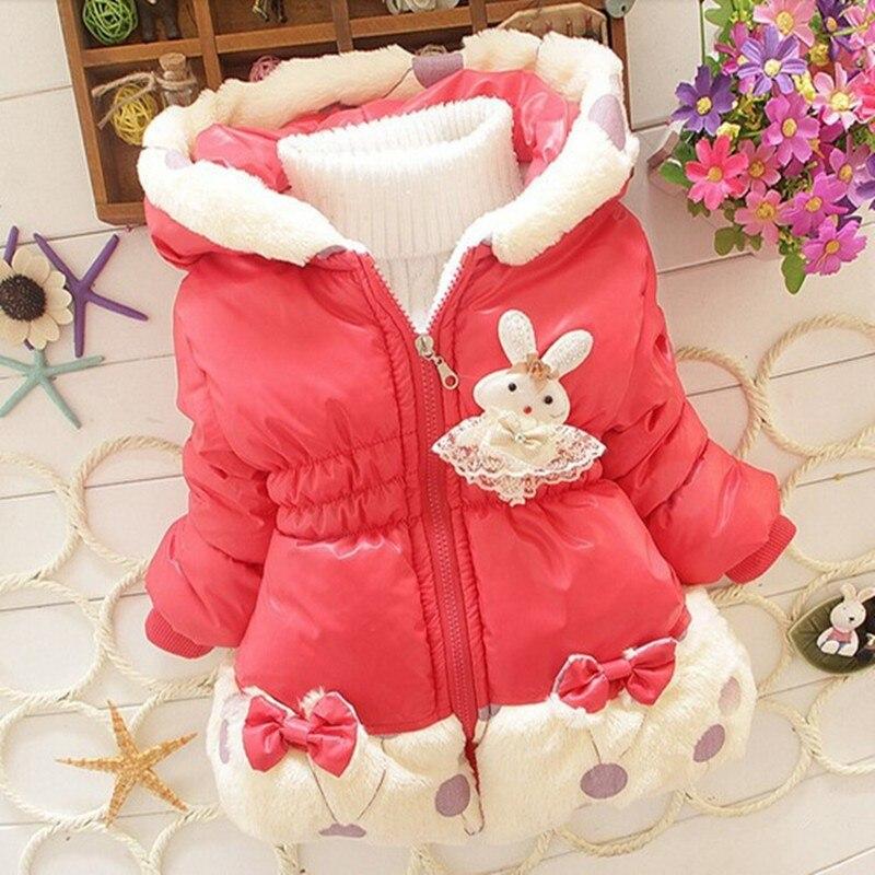 Bibicola Baby Girls Jacket Minnie Coat Children Clothes Down Cotton