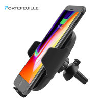 Portefeuille Auto Qi Wireless Car Charger Mount Air Vent Automatic Holder Charging For iPhone 8 Plus X Samsung S9 S8 Accessories