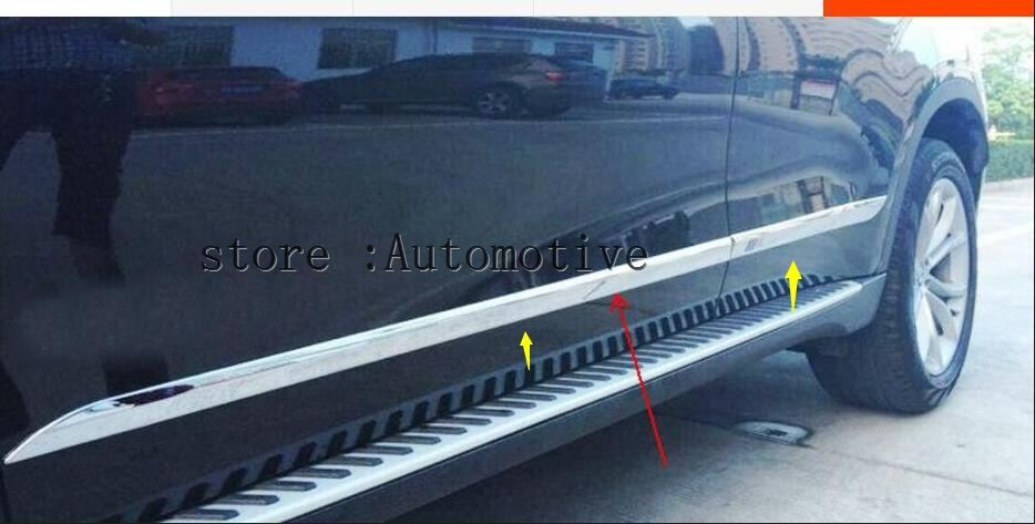 4pcs Chrome ABS Side Door Body Molding Plate Protective Cover Trim For BMW F16 X6 2015 2016 2017 2018