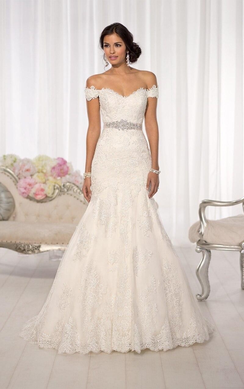 Vestido De Noiva 2016 Sexy Mermaid Vintage Wedding Dress Real Photo Lace Wedding Dress 2015 Robe De Mariage Vestido De Casamento in Wedding Dresses from Weddings Events