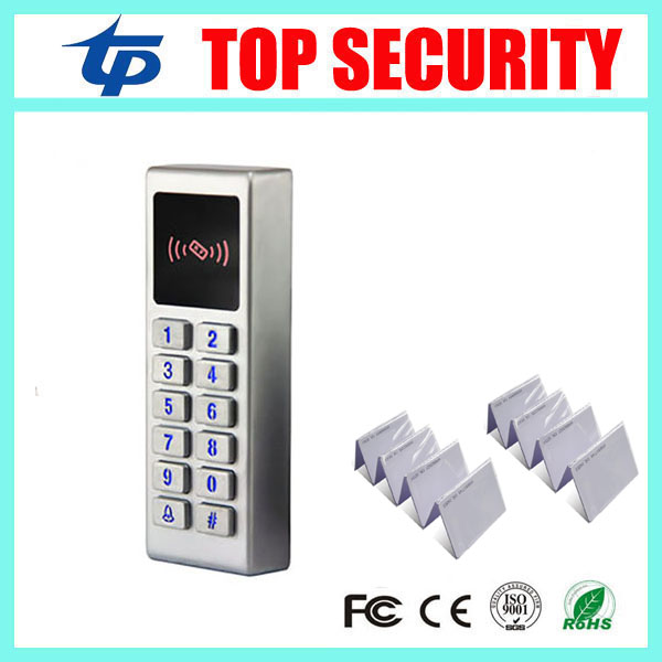 Good quality free shipping 3000 users metal waterproof surface single door access control system led keypad door control reader good quality metal case face waterproof rfid card access controller with keypad 2000 users door access control reader