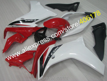 White Red bodywork fairing For 2011-2013 CBR600F CBR 600 F CBR 600F Moto Fairing kit (Injection molding)