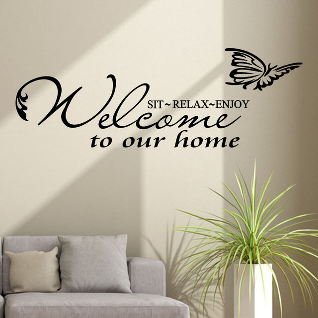 welcome sticker wall quotes decor decorations living room largewelcome sticker wall quotes decor decorations living room large inspirational quotes welcome to our home on the wall modern