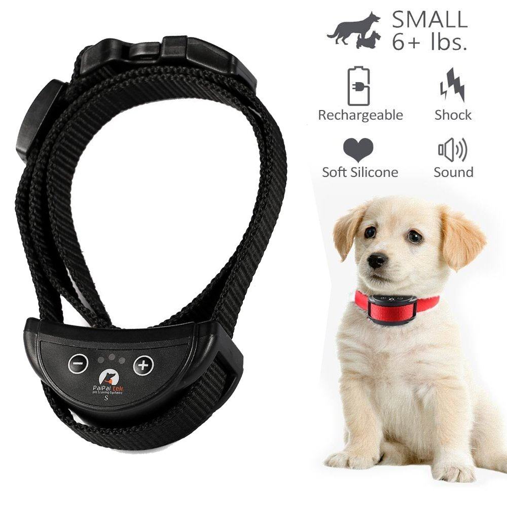 Vibration Dog-Collar Electric Shock Anti-Bark 7-Levels Automatic Dog-Supplies For Small