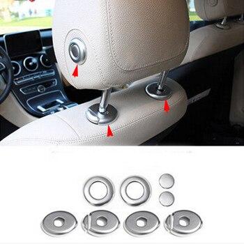 8pcs Seat Headrest Full Cover Trims Case For Mercedes-Benz GLC Class X205 16-17 & C Class W205 15-17