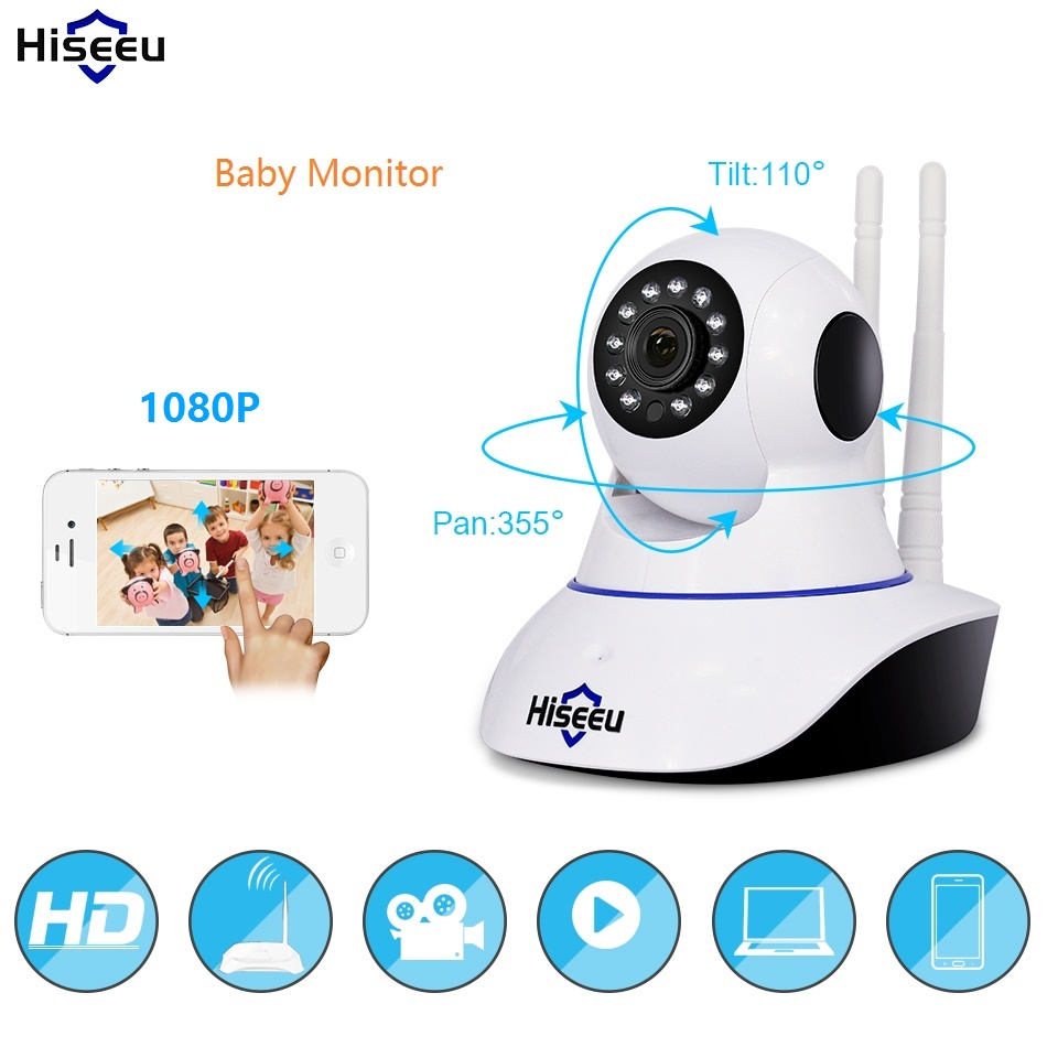 Home 1080P wi-fi Infrared IP Security Camera Wireless 2MP CCTV Night Vision Pan Tilt cam remote viewing by YYP2P Yoosee
