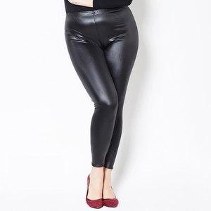 Image 3 - Leggings Vrouwen Nep Lederen Plus Size 5xL Grote Maten Vrouwen Hoge Taille Grote Slanke Legging Femme Stretch Skinny Broek Zwart leggins