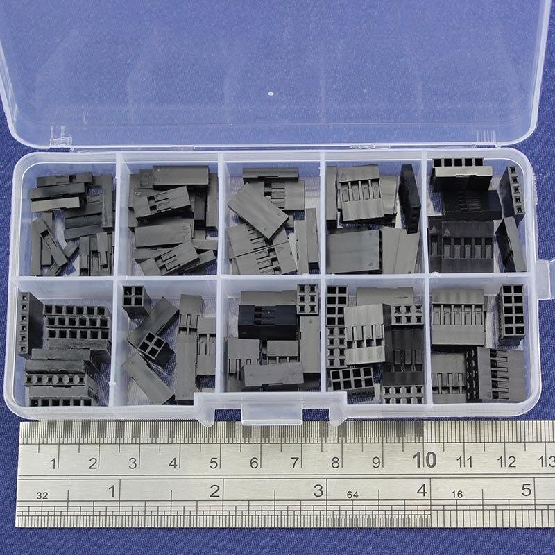 115 шт. Dupont комплекты комплект с коробкой 1 P/2 P/3 P/4 P/5 p/6 P/2*2/2*3/2*4/2 * 5pin корпус Пластик В виде ракушки терминал перемычки Провода Разъем набор