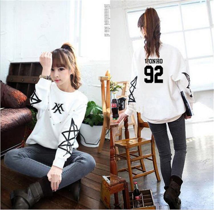 MONSTA X kpop kpop Korean version of clothing hoodies Autumn woman MONSTA man long sleeve hooded wool coat Outerwears