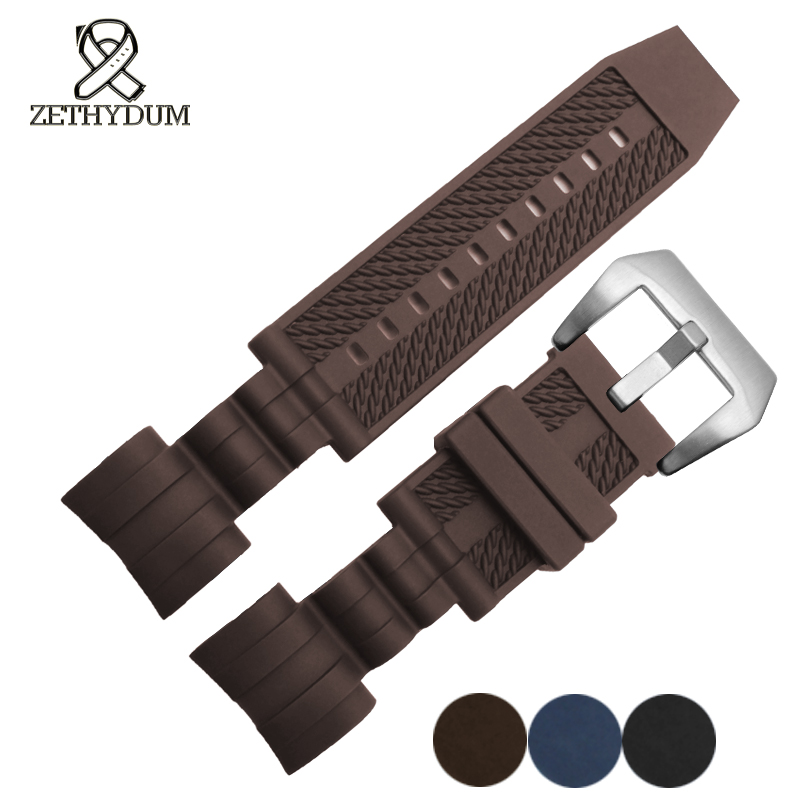 Waterproof silicone rubber bracelet watch 26*26mm invicta watchband blue brown black strap watch stainless steel buckle zeus watch