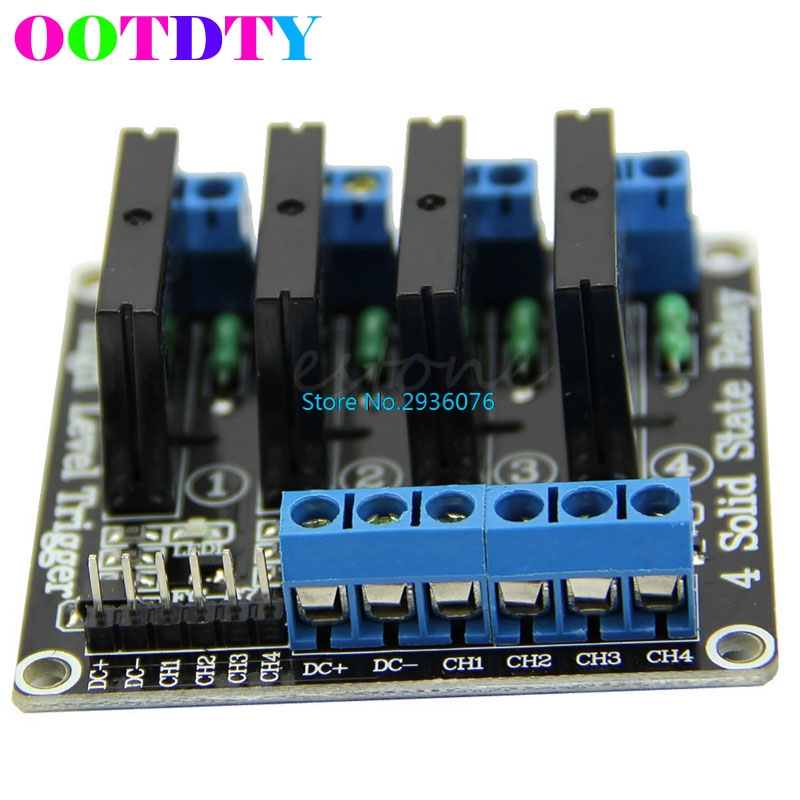 цена на 5V DC 4 Channel OMRON SSR High Level Solid State Relay Module For Arduino 250V2A APR12