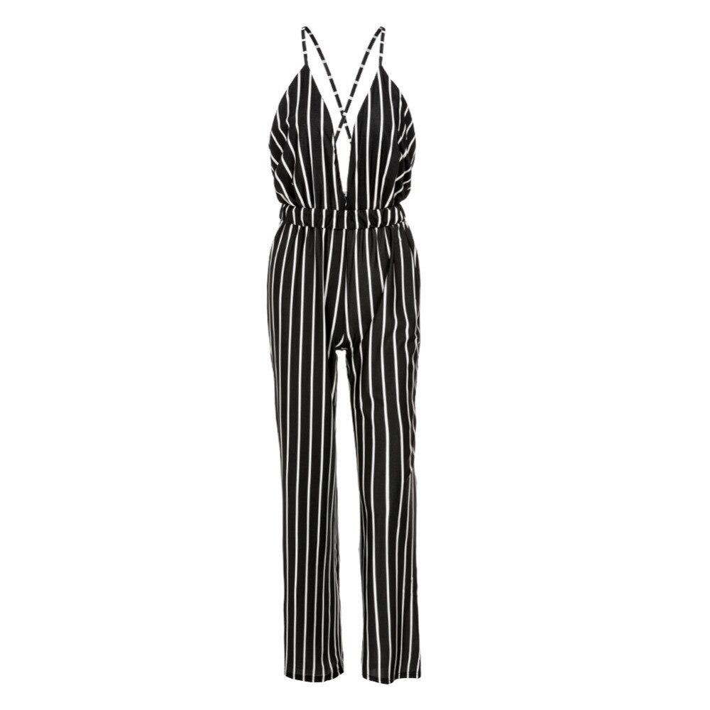 plus size black white v neck pants jumpsuit ebay plus size ...