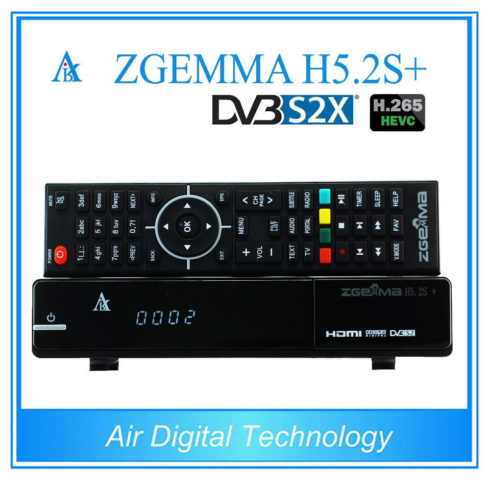 2pcs/lot DVB-S2X Linux TV Box ZGEMMA H5.2S PLUS with DVB-S2+DVB-S2X/T2/C Combo Tuners H.265/ HEVC Multistream Satellite Receiver