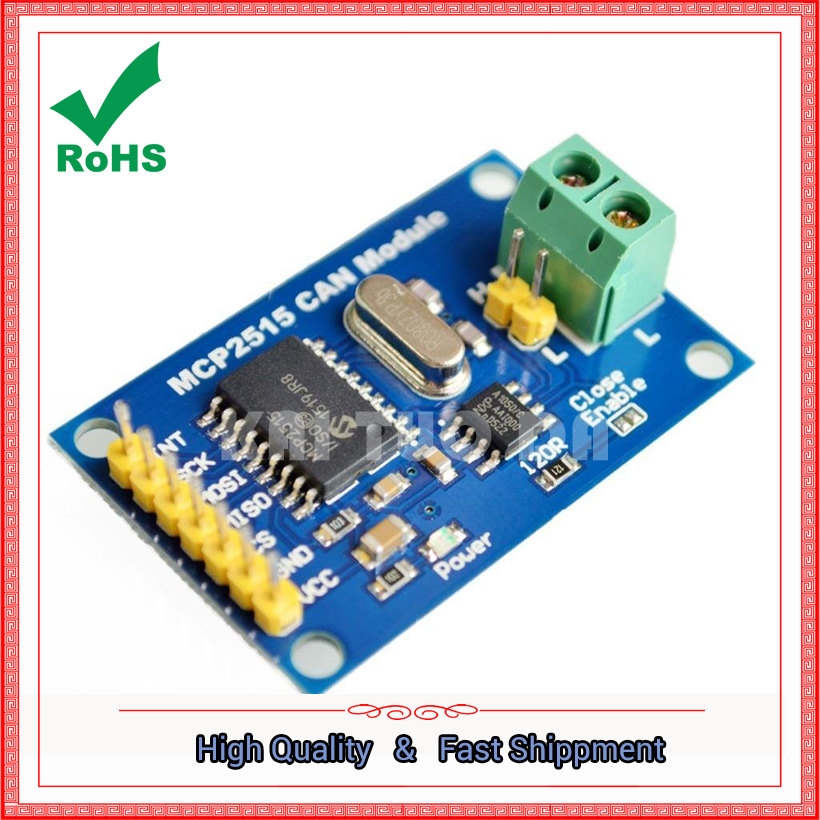 MCP2515 CAN Bus Module TJA1050 Receiver SPI Protocol 51 Single Chip Microcontroller Program Routine board image