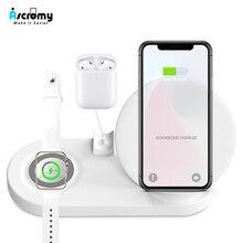 Kablosuz 4 1 telefon tutucu istasyonu iphone şarj cihazı 11 Pro XS MAX XR 8 artı X Apple İzle serisi 5 4 3 2 Iwatch Airpods Dock