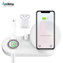Wireless 4 in 1 Phone Holder Station Charger For Iphone 11 Pro XS MAX XR 8 Plus X Apple Watch Series 5 4 3 2 Iwatch Airpods Dock
