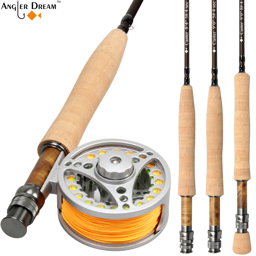 Fly Fishing Rod Combo 8 3 9FT Carbon Fiber Fly Fishing Rod with 3 4 5