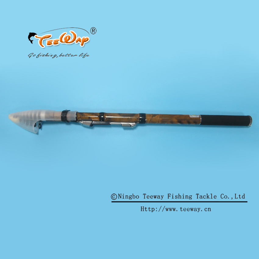 Outdoor Portable Carbon Fiber Telescope Fishing Rod Telescopic Spinning Saltwater Fishing Tackle