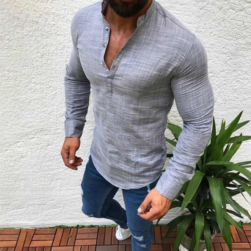 2019 new Spring Autumn Features Shirts Men Casual Shirt New Arrival Long Sleeve Luxury Casual Slim Fit Male Shirts(China)