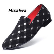 Misalwa Luxury Leather Moccasins For Men Formal Wedding Loafers 2019 Spring Gentlemen Leisure Dress Shoes Sapato Social Big Size