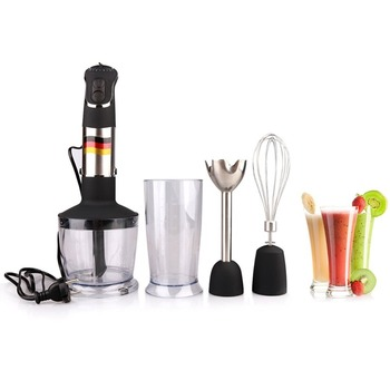 Hand Blender 4 In 1 Portable Immersion Blender For Kitchen Food Processor Stick With Chopper Whisk Electric Juicer Mixer Factory