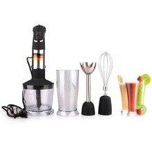 Mixeur manuel 4 en 1, mixeur à immersion Portable pour robot culinaire de cuisine avec fouet de hachoir, presse agrumes électrique, usine