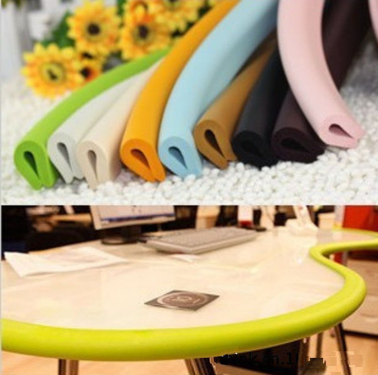New 2M Thick U-Shaped Bumper Strip Baby Safety Protection Corner Protector Glass Table Edge Corner Guards Cushion Strip
