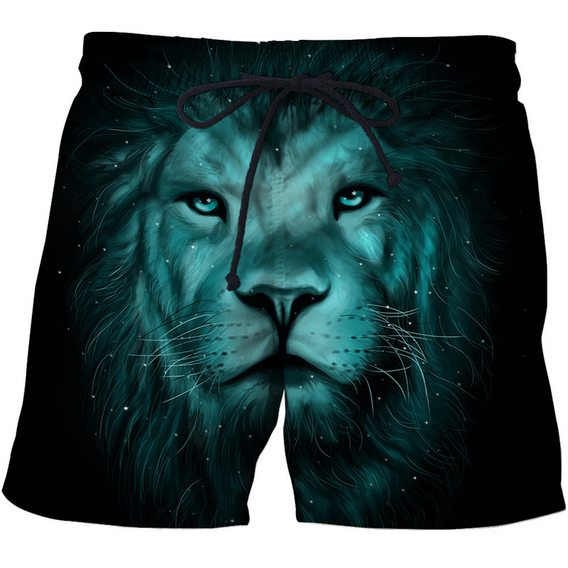 Ceiling Lights & Fans Funny Lion Beach Shorts Masculino Men Board Shorts Plage 3d Streetwear Fashion Swimwear Quick Dry Shorts Dropship Zootop Bear Relieving Heat And Sunstroke